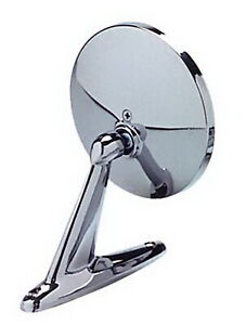 Cipa Mirrors 17000 Universal Oblong Car Mirror Chrome Round Left Or Right