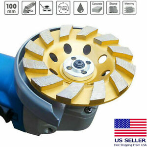 4 Diamond Segment Grinding Wheel Angle Cup Grinder Disc Concrete Granite Stone