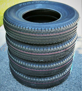 4 New Fortune St01 St 225 75r15 Load E 10 Ply Trailer Tires