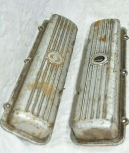 Oldsmobile 394 Valve Covers Ribbed Steel Cover Big Block Rocket V8 Starfire Vtg