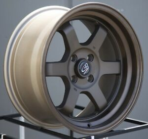 16x8 Rota Grid V 4x100 20 Speed Bronze Wheels Rims Set 4