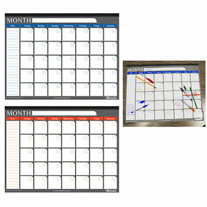 1 X Undated 12 Month Desk Pad Calendar 17x22 Inches Office Monthly Planner New
