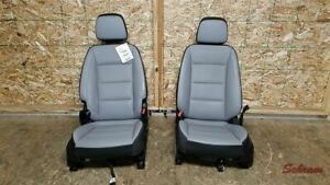 Terrain Front Driver And Passenger Gray Leather Seat Set 2019 Airbags 1977377