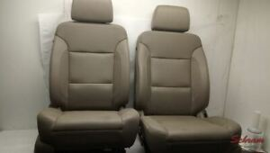 Suburban Front Driver And Passenger Tan Leather Seats Set 2019 2062858