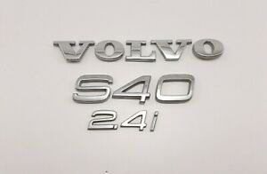 05 06 07 09 10 11 Volvo S40 2 4i 2 4 Rear Lid Trunk Emblem Logo Badge Set Oem 07