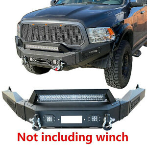 Vijay Black Steel Dodge Front Bumper For 13 18 Dodge Ram 1500 With Winch Plate