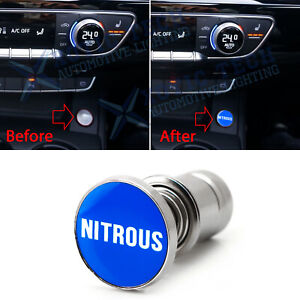 Universal Blue nitrous Push Button Car Cigarette Lighter Replace Accessories