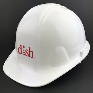 Dish Pyramex Cap Style Hard Hat With 6 Point Ratchet Suspension White Work