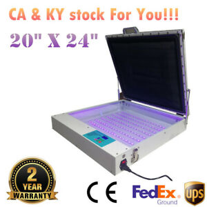 Us Stock Tabletop Precise 20 X 24 80w Vacuum Led Uv Exposure Unit Ce Approved