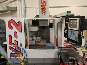 Haas Vf 2 Vmc 7500 Rpm Auger Cool And Under Power For Inspection