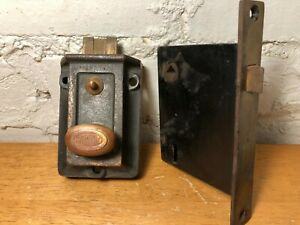 Vintage Corbin Door Lock Brass Surface Mount And Mortise With Skeleton Key Hole