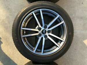 2016 Ford Mustang 18 X8 Oem Charcoal Machined Factory Wheels Rims And Tires