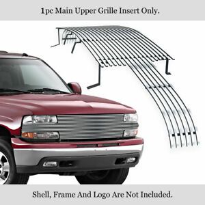 Fits 1999 2002 Chevy Silverado 1500 Main Upper Stainless Chrome Billet Grille