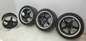 2002 Chevrolet Corvette Z06 Wheels 18x10 5 Front Rear Wheel Set W 3 Tires