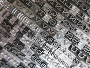 Letterpress Lead Type 18 Pt Hellenic Wide Bauer Type Foundry B42