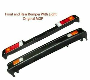 Front Rear Bumper For 86 88 Suzuki Samurai Ja Jx Painted Black With Lights