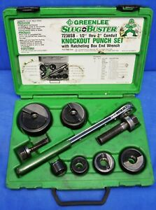 Greenlee 7238b Knockout Punch Set W Wrench Driver