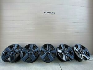17 Jeep Wrangler Black Gladiator 127 Grand Rubicon Oem Factory Stock Wheels Rims