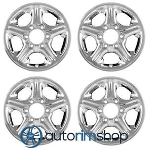 Isuzu Trooper 1998 1999 2000 2001 2002 16 Oem Wheel Rim Set Chrome