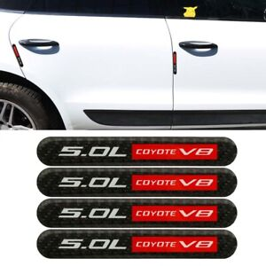 4pcs Trd Carbon Fiber Car Side Door Edge Scratch Protector Guard Sticker