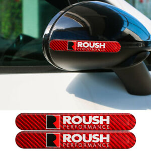 2pcs Trd Carbon Fiber Red Car Side Door Edge Scratch Protector Guard Sticker