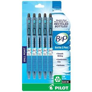 Pilot Bottle 2 Pen b2p Retractable Ball Point Pens Made From Recycled