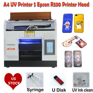 Achi Uv Printer Flatbed Printer Epson Printing Metal Phone Case Glass Sign Us