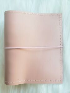 Pink Leather Planner Pocket Agenda 30mm Ring Organizer Chunky A7 Notebook Wallet