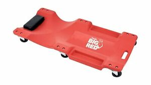 Big Red Torin Blow Molded Plastic Rolling Garage Shop Creeper Padded Headrest