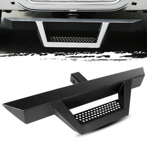31 3 Tube Black Trailer Tow Hitch Drop Step bumper Protector For 2 Receiver