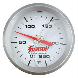 Summit Mechanical Water Temperature Gauge 2 Dia White Face 350120
