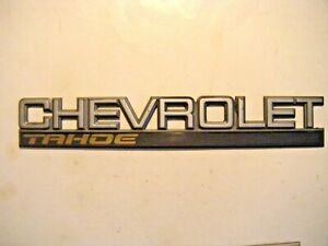 Chevy Tahoe Rear Tailgate Emblem 15