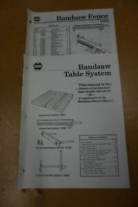 Shopsmith Mark V Bandsaw Table System Fence Manual Free Shipping