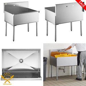 Stainless Steel 16 gauge Deep Compartment Commercial Utility Sink 36 X 24x 14 In