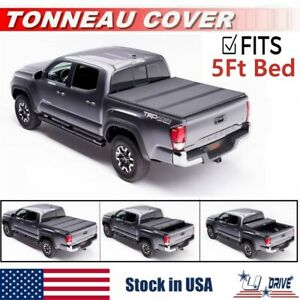 Hard Solid Tri Fold For 2005 2015 Toyota Tacoma 5ft 60in Bed Cover Tonneau Cover