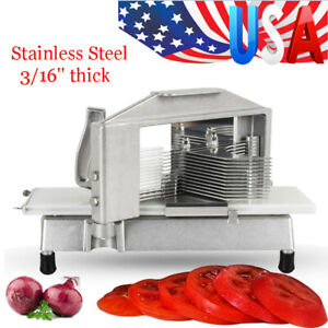Commercial Tomato Slicer Cutter 3 16 Blade Vegetable Fruit Cutting Machine New
