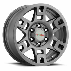 Set Of 4 Toyota Trd Pro Wheels 17 Grey Fits Tacoma 4runner Fj Cruiser