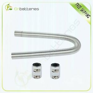 48 Inch Stainless Steel Radiator Flexible Coolant Water Hose Kit With Caps