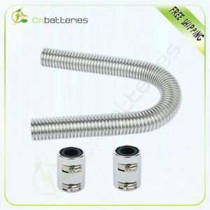 24 Inch Stainless Steel Radiator Flexible Coolant Water Hose Kit With Caps