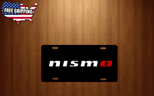 Black Aluminum License Plate Tag For Nismo Jdm Vehicles