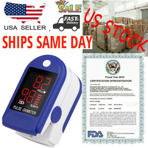 Usa Fingertip Pulse Oximeter Spo2 Blood Oxygen Finger Pr Monitor Saturate Meter