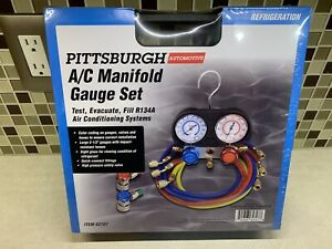 Pittsburgh A C Manifold Gauge Set Test Air Conditioning Auto System 62707