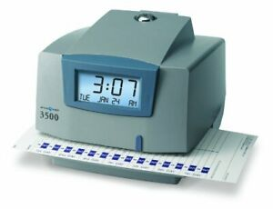 Pyramid M3500 Electronic Document Time Recorder Card Punch stampunlimited
