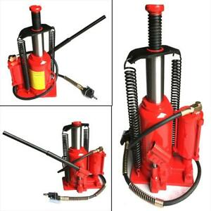 Red Steel 20t Air Hydraulic Bottle Jack Moving Machinery Low Profile Tool