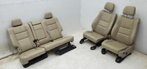 2015 2019 Jeep Grand Cherokee Tan Leather Seats Front Rear Seat Set
