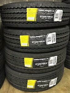 4 Greenball Tow master Asc All Steel St 225 75r15 Load F 12 Ply Trailer Tires