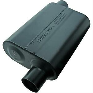Flowmaster Muffler Super 44 Series 2 25 Inlet 2 25 Outlet Steel Black Ea 942448