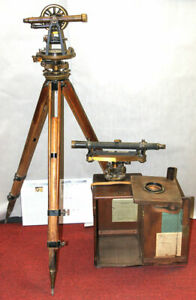 C l Berger Sons Inc 1902 Transit With Base And Scope Complete Look