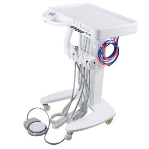 Portable Mobile Dental Delivery Unit Cart Work W Compressor 4hole Equipment Fda