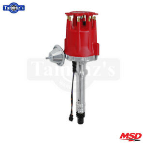 Chevy V8 Msd Street Pro billet Distributor With Vacuum Advance Red